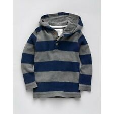 Boys Mini Boden Waffle Hoodie, Navy Orange Green / Grey