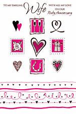 to / for my wife on our ruby wedding anniversary traditional card 40th