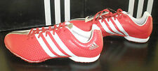 Adidas Adizero MD Middle Distance Track & Field Shoes / Spikes Red/White/Silver