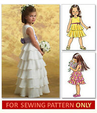 SEWING PATTERN! MAKES FANCY FLOWER GIRL DRESS! CHILD SIZES 2 TO 8! GIRL~WEDDING!