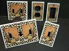 LEOPARD HIGH HEEL SHOES  LIGHT SWITCH OR OUTLET COVER MULTIPLE SIZES