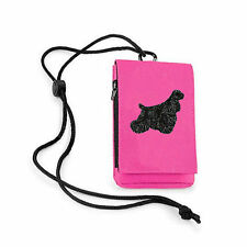 American Cocker Spaniel Phone Pouch Embroidered by Dogmania