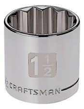 Craftsman 1/2 Dual Laser Etched SAE 12 pt Socket - Any Size STD Inch Point Tools