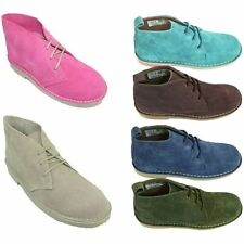 Roamers LADIES Real Suede DESERT BOOTS Non Slip Sole -  Normal / Wide Fitting
