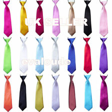 New High Quality Boys Girls Childs School Italian Satin Elastic Neck Tie Ties