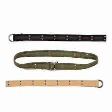 D-RING BELT VINTAGE STYLE OLIVE DRAB BLACK KHAKI COTTON ROTHCO 4147