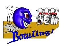Custom Made T Shirt Bowling Scared Pins Angry Ball Sports Funny Hilarious NWOT