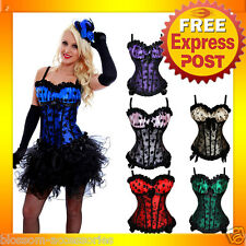 CC31 Burlesque Polka Dots  Moulin Rouge Hens Night Party Costume Corset + Skirt