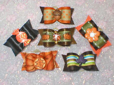 USA Dog Bows~x-sm Fall Autumn Pick 1 - 6  for maltese, Yorkie, shih-tzu puppy