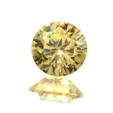 (1.5mm - 25mm)  Round AAA Yellow Cubic Zirconia **View Video**