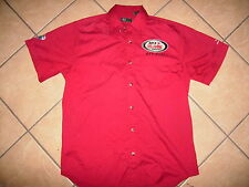 ARCA AUTO RACING SHIRT Pit Crew Mechanic TRACK OFFICIAL Remax Series Red MEDIUM