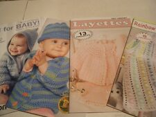 Leisure Arts Little Books -Babies Layettes- Sweaters -Afghans in Knit & Crochet