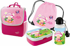 SET Kindergartenrucksack Happy Knirps® Name Wunschmotiv Kinderrucksack Brotdose
