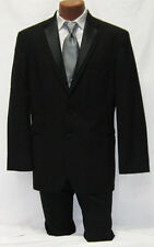 Mens Black Oscar De La Renta Trilogy 2 Btn Tuxedo Package w/ Pants Vest, Tie 46L