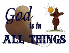 Custom Made T Shirt God Is In All Things Heart Cross Christian Religion Awesome