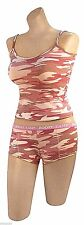 "TANK TOP AND ""BOOTY CAMP"" SHORTS SET PINK CAMO VARIOUS SIZES ROTHCO 3976 4976"