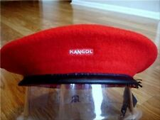 Mens Classic  Kangol  Wool  Monty  Military  Beret  Color  Red