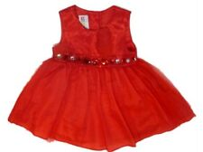 Muneca Infant Toddler Girl Sparkly Red Party Dress Holiday Jewel Tulle Skirt
