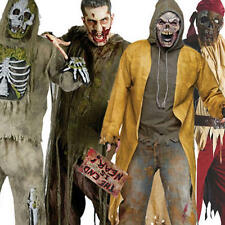 Spaventosa Zombie Horror Mens HALLOWEEN FANCY DRESS OUTFIT Adulti Costume + Maschera Nuovo