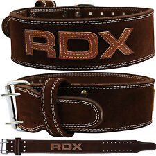 RDX Weight Lifting Nubuck Leather Power Belt Back Support Strap Gym Training Dip