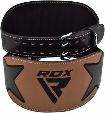Auth RDX Leather Gel Tech MMA 6oz Grappling Gloves Fight Boxing UFC Punch Bag H