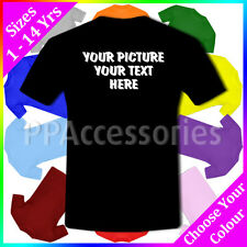 Personalised Customised Your Picture Your Text Kids Girls Boys T-Shirt