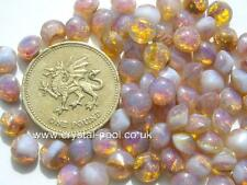 West German Milky Pink Opal glass unfoiled chatons in a choice of 3 sizes
