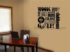 Golf Sports Vinyl Decal Wall Sticker Words Lettering Teen Room Office