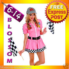 G85 Miss Indy Super Car Racer Racing Sport Driver Grid Girl Fancy Costume Outfit