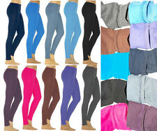 Leggings Leggins lang Thermo Baumwolle Fleece Futter warm blickdicht Röre Hose