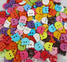 4 boutons Tête ourson 13 mm Couture scrapbooking embellissement tricot layette♥