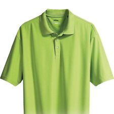 NEW! Mens Moisture Wicking Diamond Texture GOLF POLO Shirt  4 COLORS - S M or L