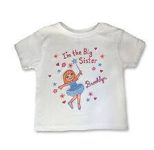 BABY GIRL TODDLER I'M THE BIG SISTER T SHIRT PERSONALIZED FREE