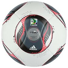 adidas CAFUSA Confederations 2013 Glider Soccer Ball White/Black/Red New