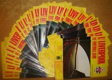 Liverpool Home Programme's 1985-1986 Div 1, Milk Cup + FA Cup