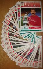 Liverpool Home Programme's 1992-1993 Premiership + Cups