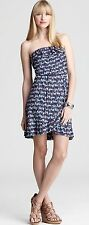 $148 Lilly Pulitzer Stretch Jersey Flor Bright Navy Oh Buoy Strapless Dress