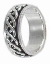 Men's Spin Spinning Ring 925 Sterling Silver Modern Valentines Jewelry Gift