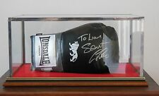 SIGNED SMALL BOXING GLOVE 10oz - GLASS DISPLAY CASE ONLY