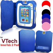 Stand Wallet Leather Carry Case Cover For VTech InnoTab 2 Pad Protect