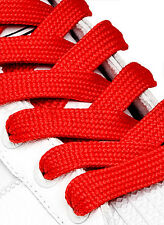 FAT WIDE FLAT RED SHOE LACES SHOELACES - 13mm wide - 3 LENGTHS