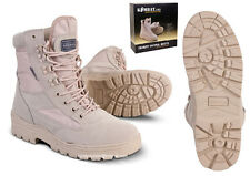 Mens Desert Army Combat Military Patrol Tan Work Lightweight Suede Leather Boot