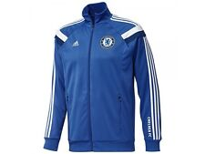 adidas Chelsea FC 2014 - 2015 Soccer Track Jacket Royal Blue / White Brand New