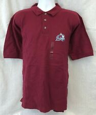 COLORADO AVALANCHE NHL MEN'S EMBROIDERED MAROON POLO SHIRT L XL 2XL