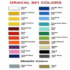 Oracal 651 Vinyl Sheets / Rolls!  Sold by YARD!  Choice of Size & Colors!