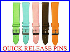 16mm 18mm Satin Watch Band Strap fits Michele Coach Burberry Guess Emporio Amani