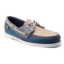 SEBAGO Mens Spinnaker Docksides Boat Shoes Pink/Navy/Blue Nubuck B72941