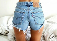 LEVIS VINTAGE WOMENS HIGH WAISTED STONE WASH DENIM SHORTS SIZE 8 10 12 14 16