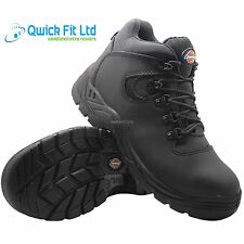 MENS DICKIES FURY LEATHER SAFETY SHOES WORK HIKER ANKLE BOOTS STEEL TOE CAP 4-12