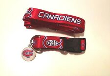 NEW MONTREAL CANADIENS PET SET DOG COLLAR LEASH ID TAG ALL SIZES LICENSED